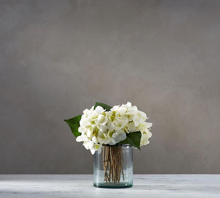 Faux White Hydrangea Arrangement