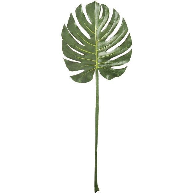 Faux Monstera Leaf