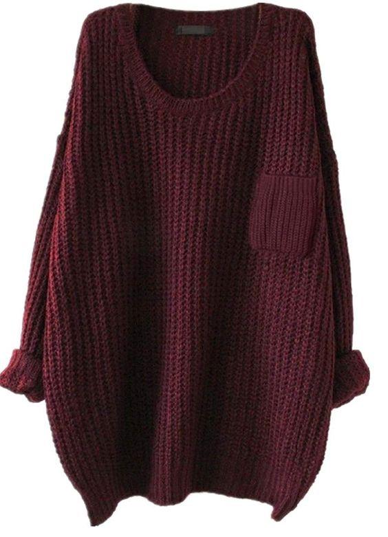Maroon Oversized Sweater