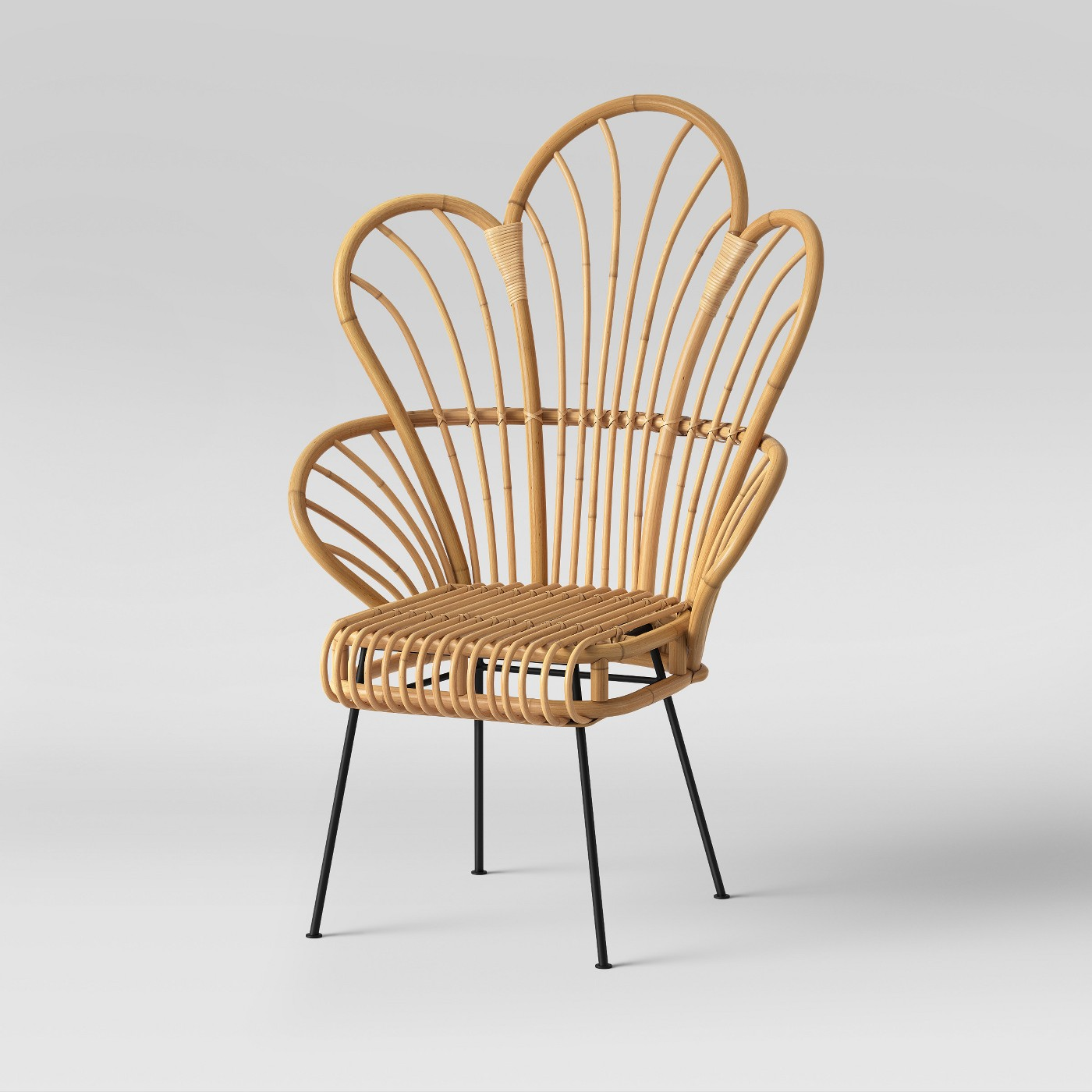 Avocet Rattan Fan Back Accent Chair