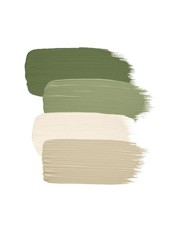 Photo Via: Sherwin-Williams  Colors used: Artichoke by Sherwin-Williams, Clary Sage by Sherwin-Williams; Dover White by Sherwin-Williams; Downing Sand by Sherwin-Williams