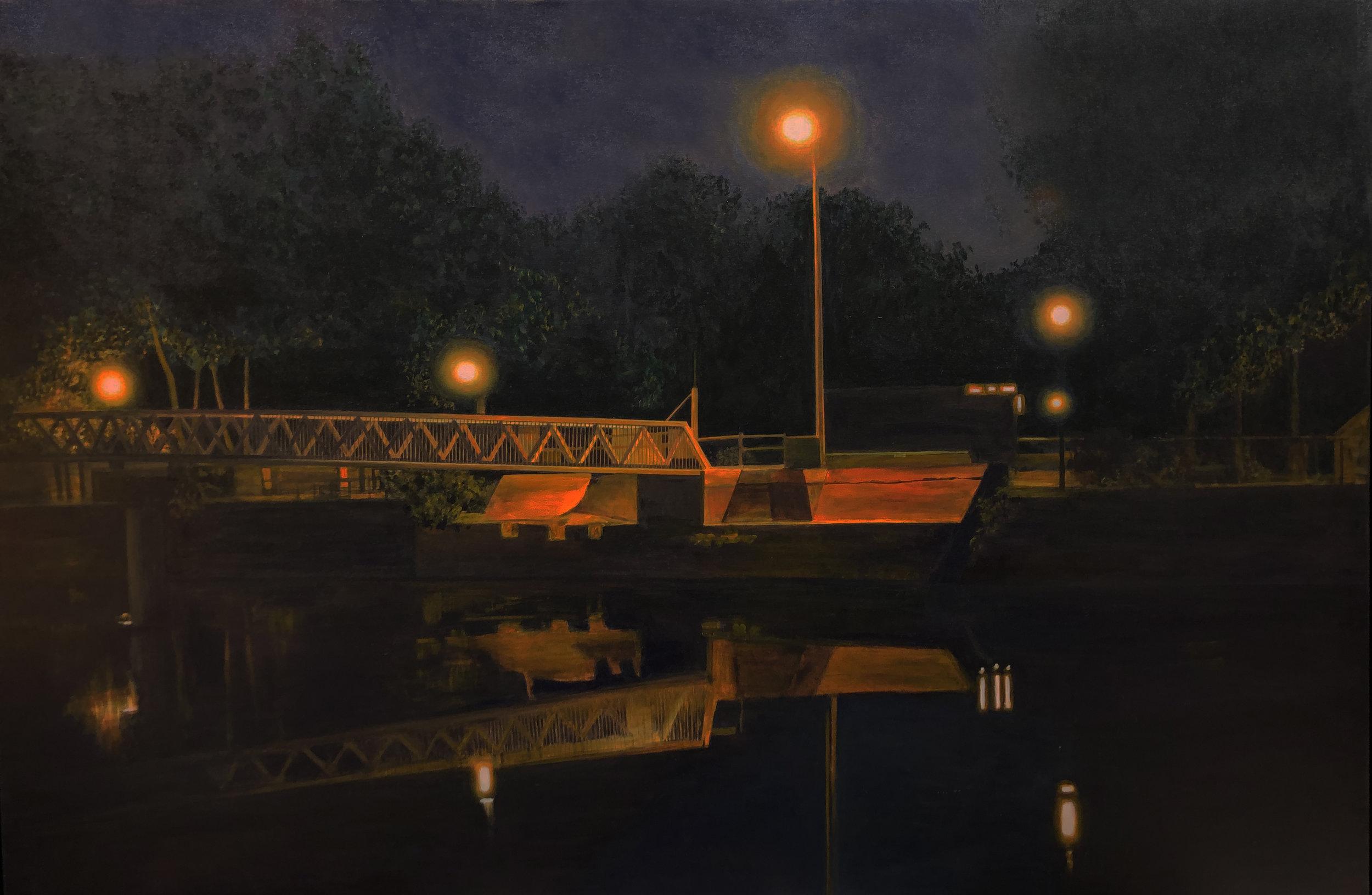 """""""Canal"""" Acrylic on Canvas  60""""x40"""""""