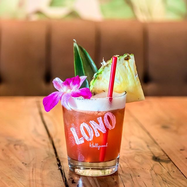 Jungle Bird 🦜 A tiki classic said to be created in the 70's- we have our own take at LONO you should try this #tikituesday Made with dark Bermudan rum, Campari, fresh lime & pineapple cinnamon #lonohollywood 📸 by @eugeneshoots