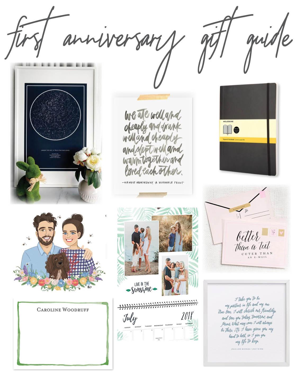 One Year Anniversary Gifts Paper Lindsae Metz
