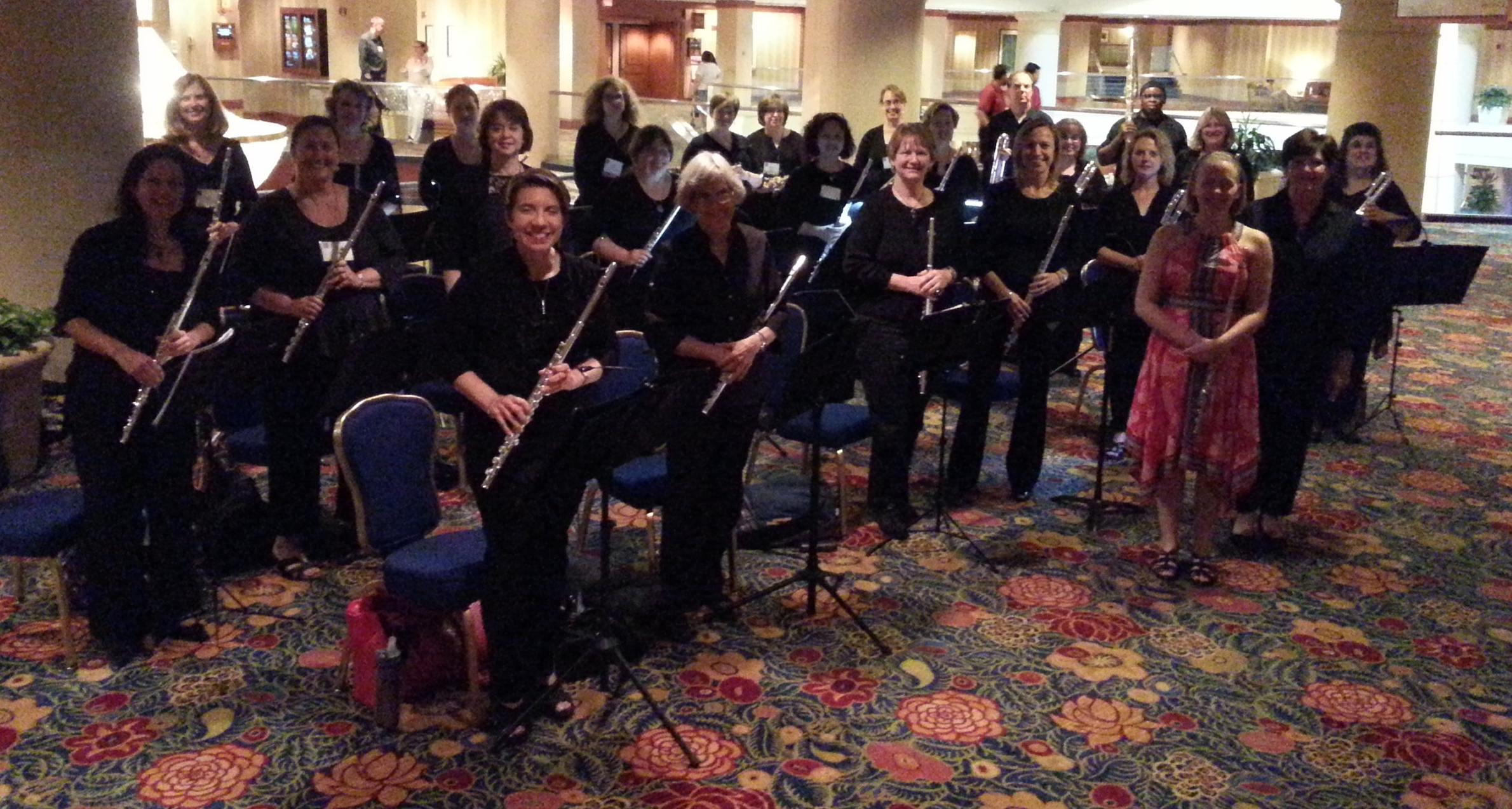 The Woodbridge Flute Choir with Emma Resmini at the premiere