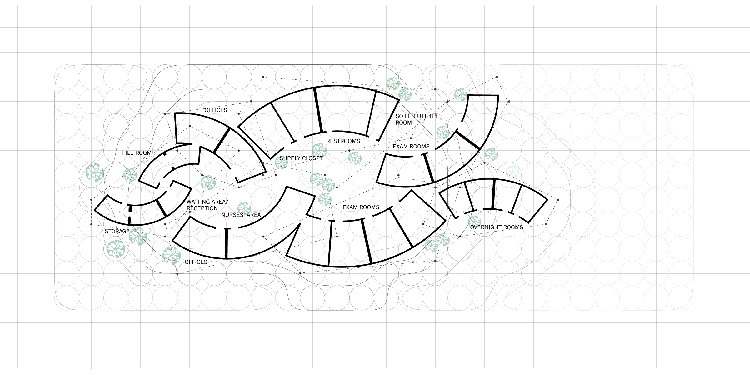 superimposed clinic plans
