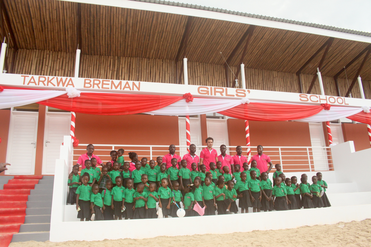 completeled girls' school using combination of our studio's designs