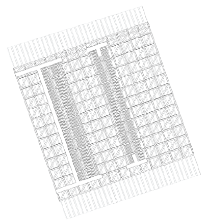 reflected ceiling plan showing truss system