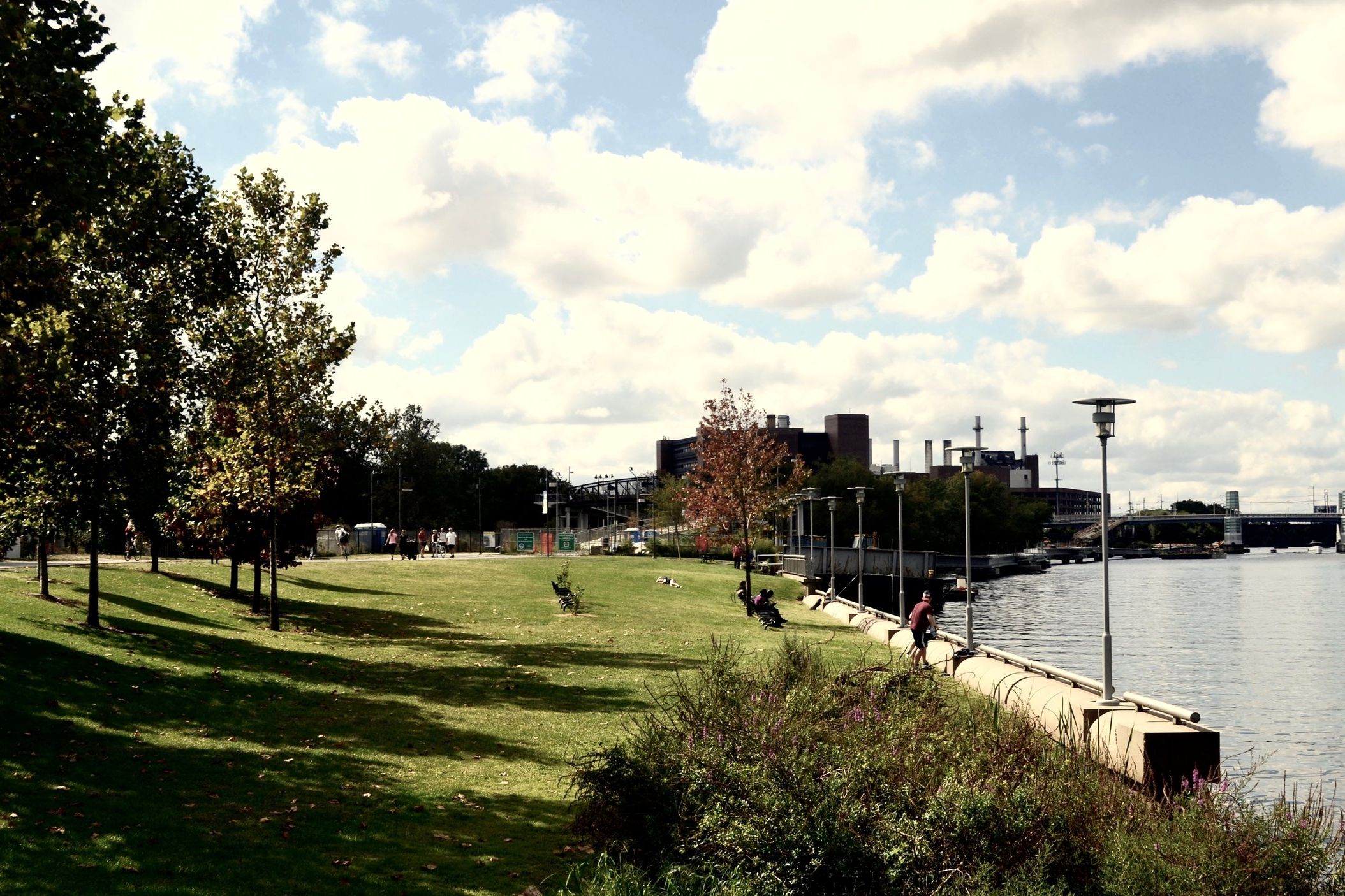 schuylkill river park on an autumn afternoon