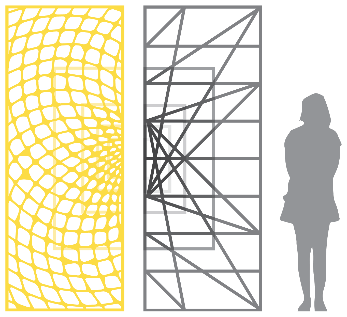 series of overlapping panels