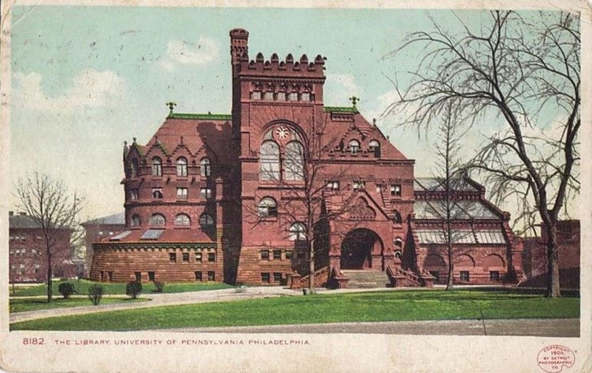 Fisher Fine Arts LIbrary exterior, 1904