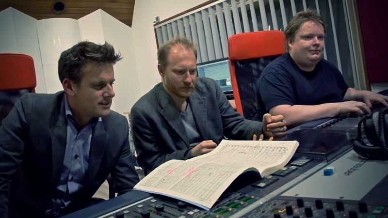 With Maestro Philippe Jordan and Georg Burdicek while recording Tchaikovsky Symphony No.6
