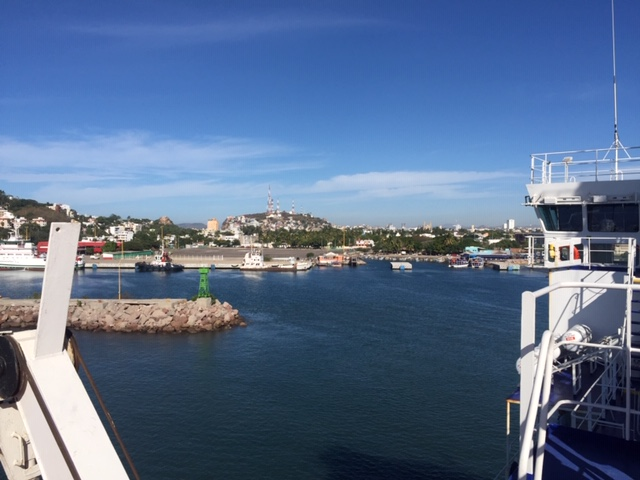 Pulling in to the Port of Mazatlan. Nice and Sunny and 80 degrees!