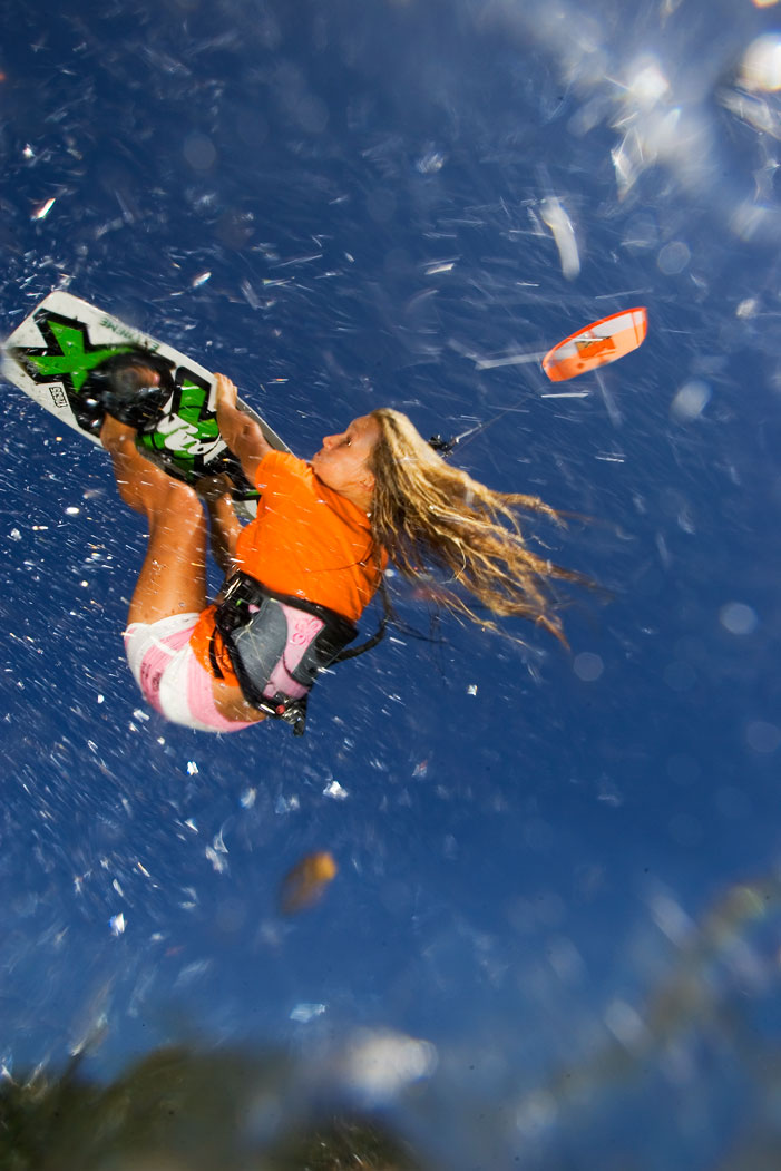 Kiteboarding in Byron Bay, Australia.