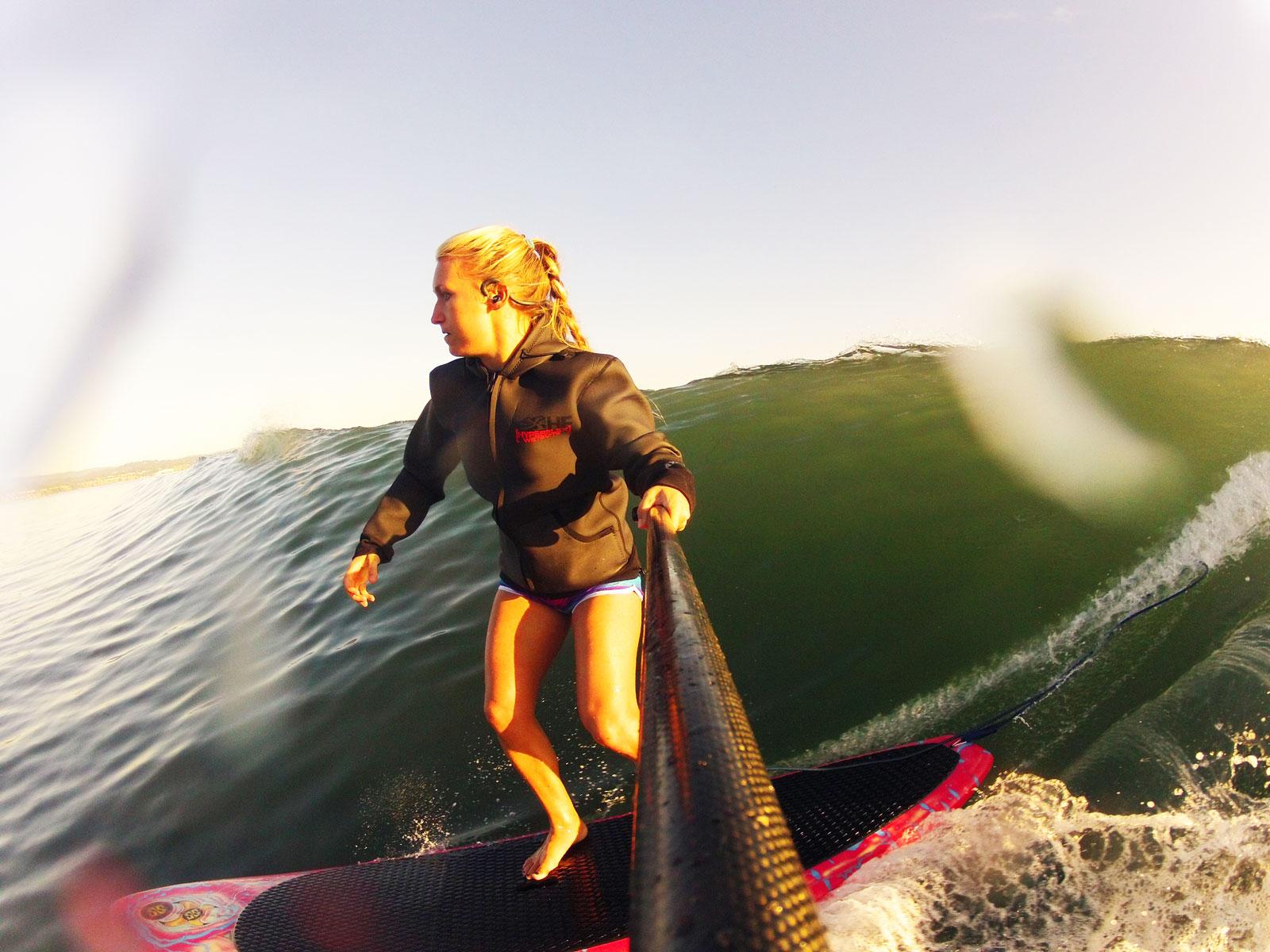 SUP surfing Privates, Capitola.