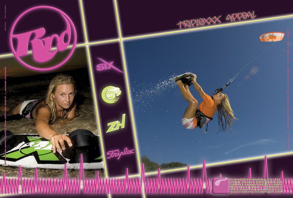 RRD Kiteboarding full page ad. June 2005.
