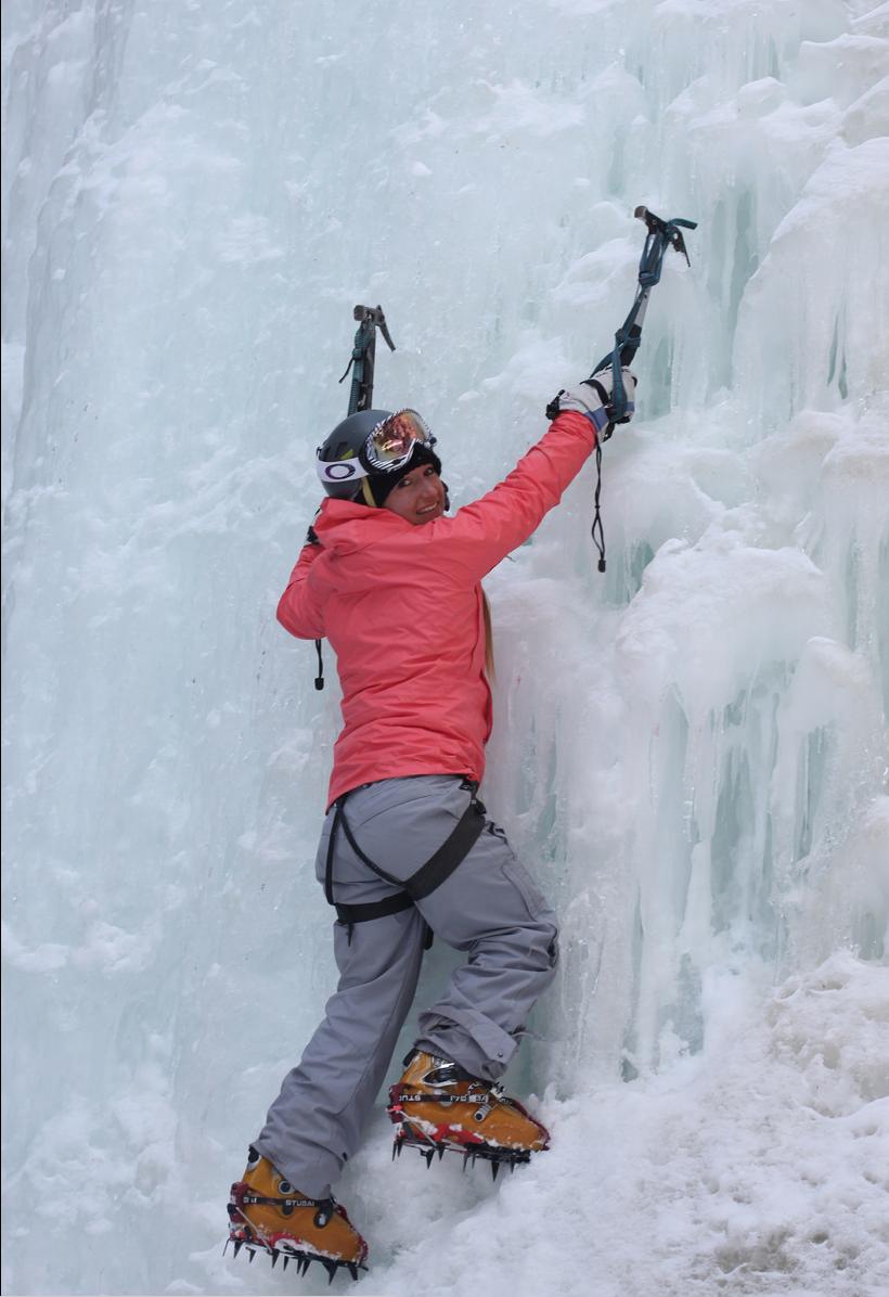 Ice climbing somewhere in the Wrangell St Elias Mountains, Alaska, via airplane.