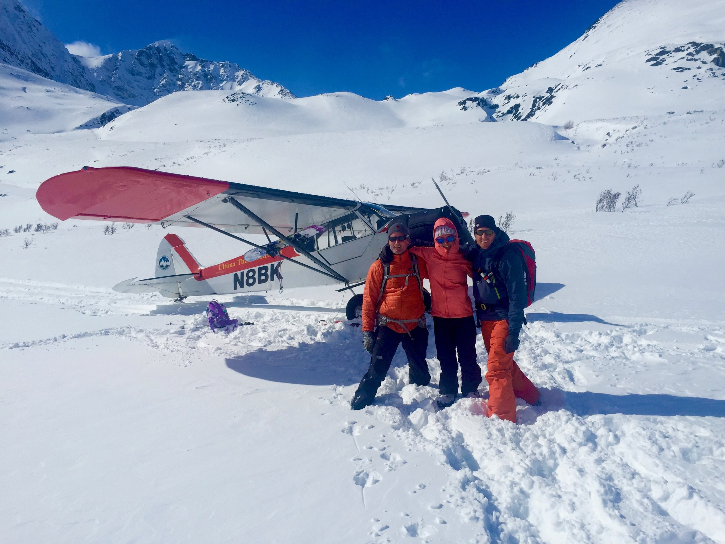 Super cubs on skis are the best way to back country ski and split board in Alaska. Especially when my man is the pilot.