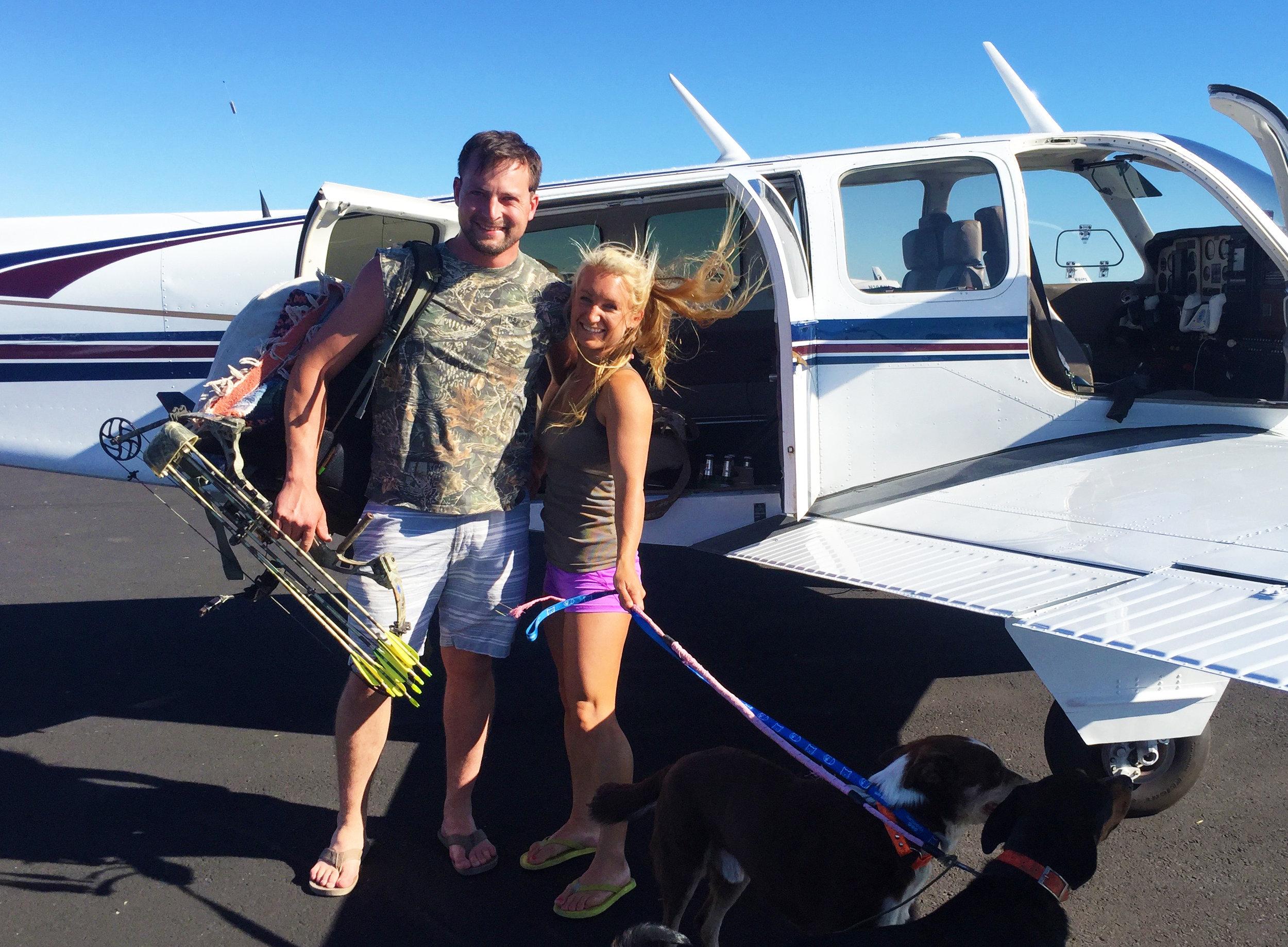 Flying the bonanza around California is fun.