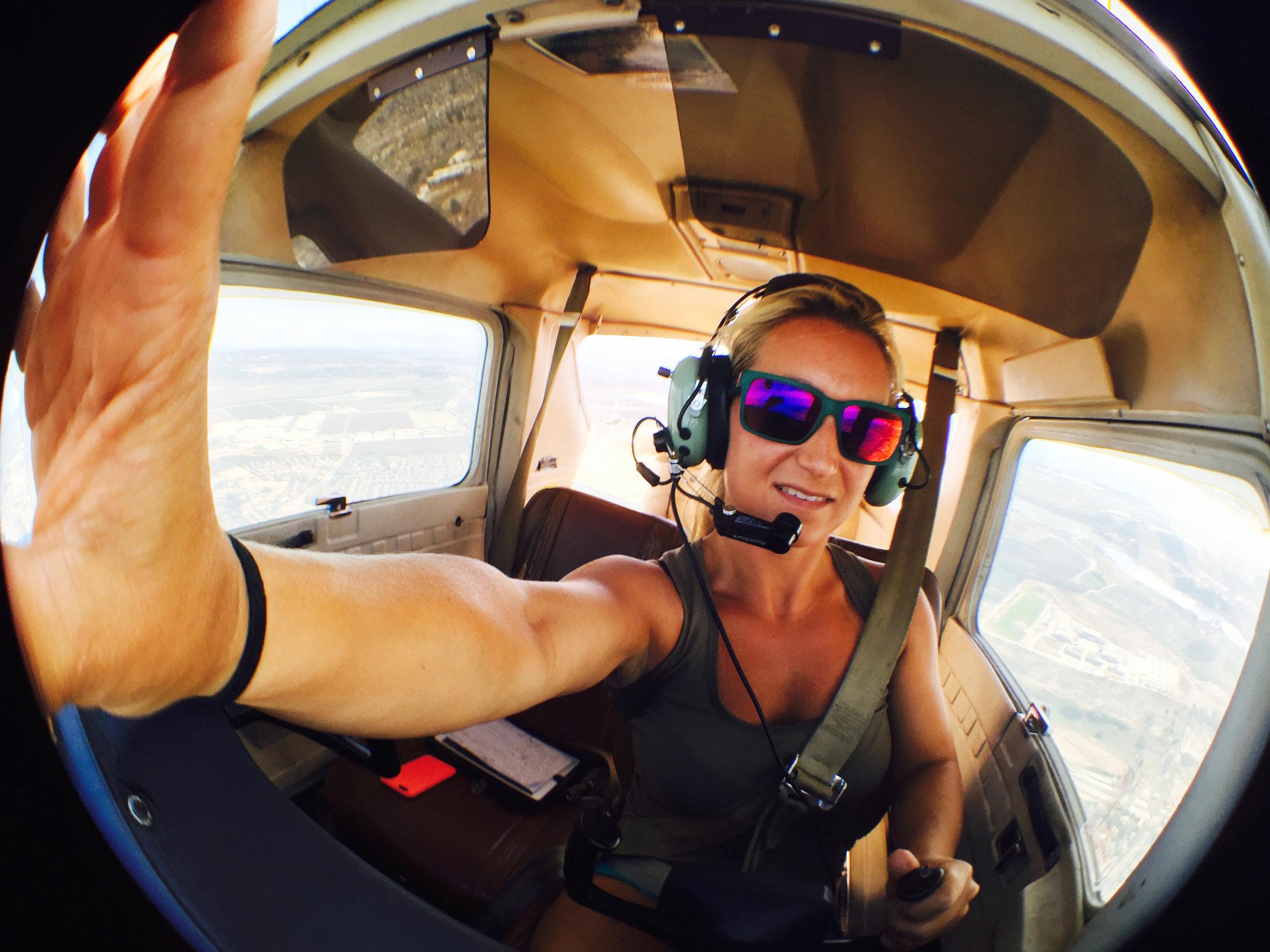 Flying over the farm fields of Watsonville.