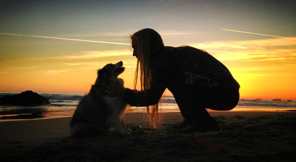 My Kiwi and I, Pleasure Point sunset, Santa Cruz, CA.