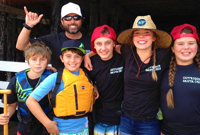 Tai and his children at Outrigger Santa Cruz