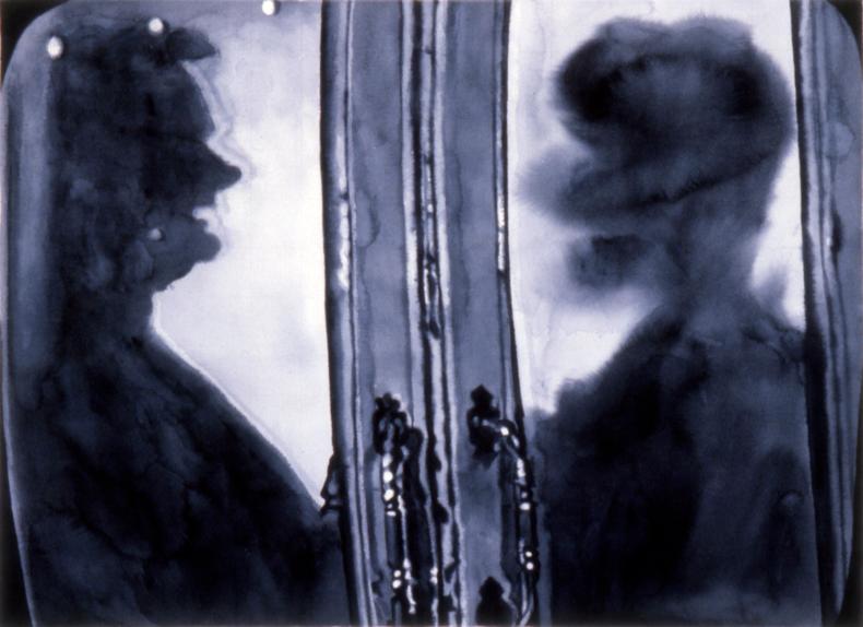 """""""Doors,"""" 1983; Watercolor on Paper; 22""""X30"""""""