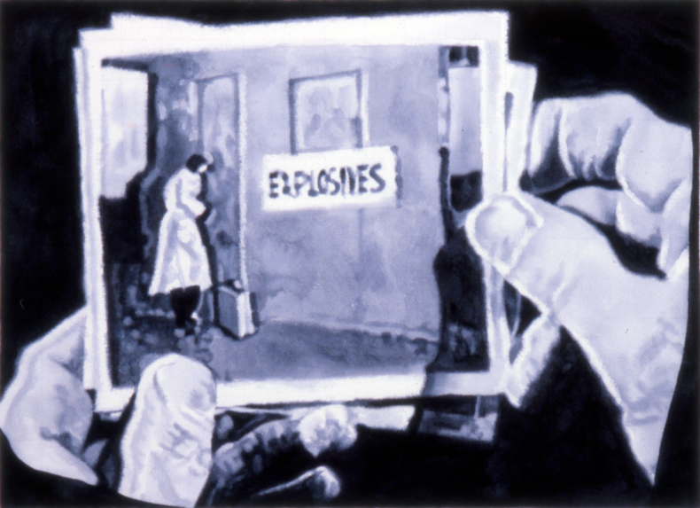 """Explosives,"" 1983; Watercolor on Paper; 22""X30"""