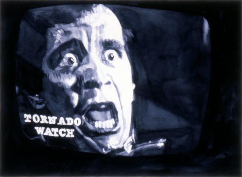 """Tornado Watch #1,"" 1982; Watercolor on Paper; 22""X30"""