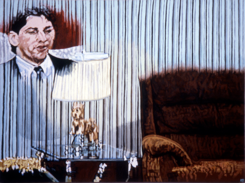 """Ghost Husband,"" 1984; Acrylic on Canvas; 36""X48"""