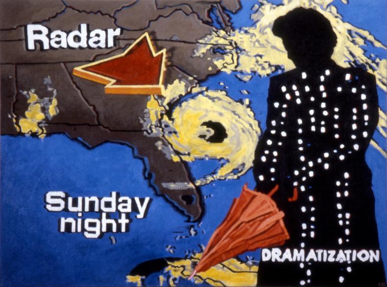"""""""Radar,"""" 1984; Acrylic on Canvas; 36""""X48"""""""