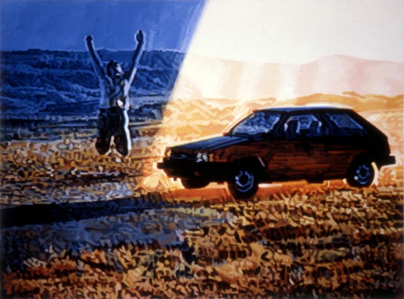 """Ascension,"" 1985; Casein on Paper; 22""X30"""