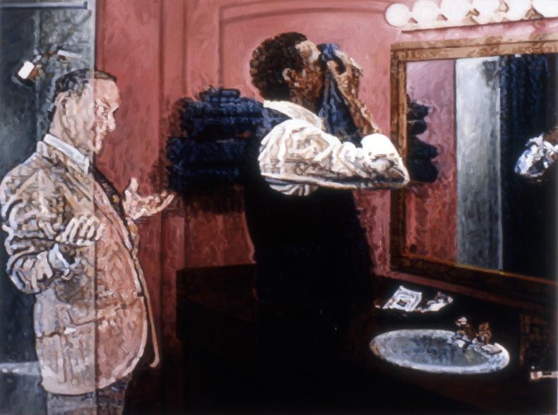 """The Annunciation,"" 1986; Oil on Canvas; 36""X48"""
