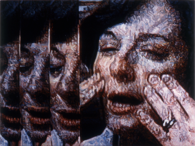 """""""Before/After Repentant,"""" 1987; Acrylic on Canvas; 36""""X48"""""""
