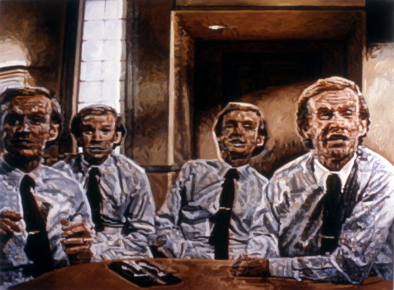 """""""Dinner Guest,"""" 1987; Oil on Canvas; 40""""X54"""""""