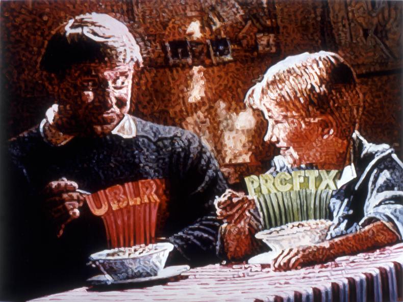 """Greeking,"" 1987; Oil on Canvas; 44""X58"""