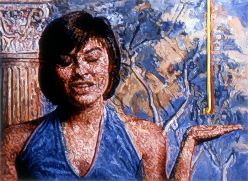 """""""Ooze,"""" 1989; Acrylic on Canvas; 40""""X54"""""""
