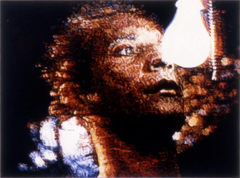 """Lure,"" 1989; Acrylic on Canvas; 44""X58"""