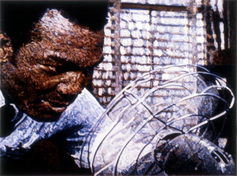 """Vent,"" 1989; Acrylic on Canvas; 48""X64"""