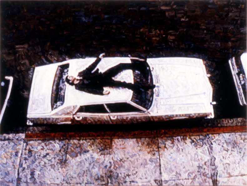 """Sleeper,"" 1989; Acrylic on Canvas; 44""X58"""