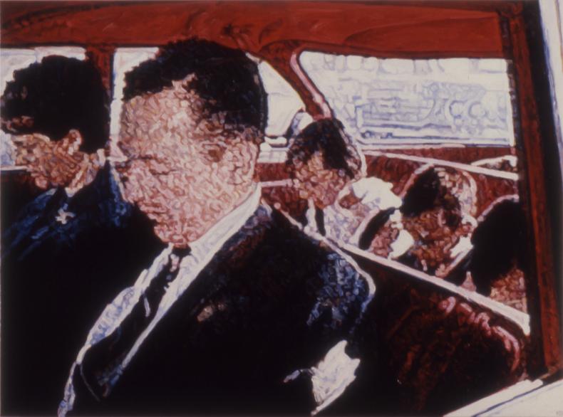 """""""Sleepers,"""" 1989, Acrylic on Canvas; 48""""X64"""""""
