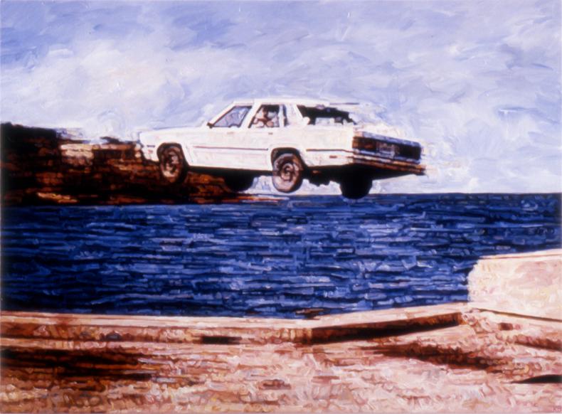 """White Cloud,"" 1989; Acrylic on Canvas; 40""X54"""