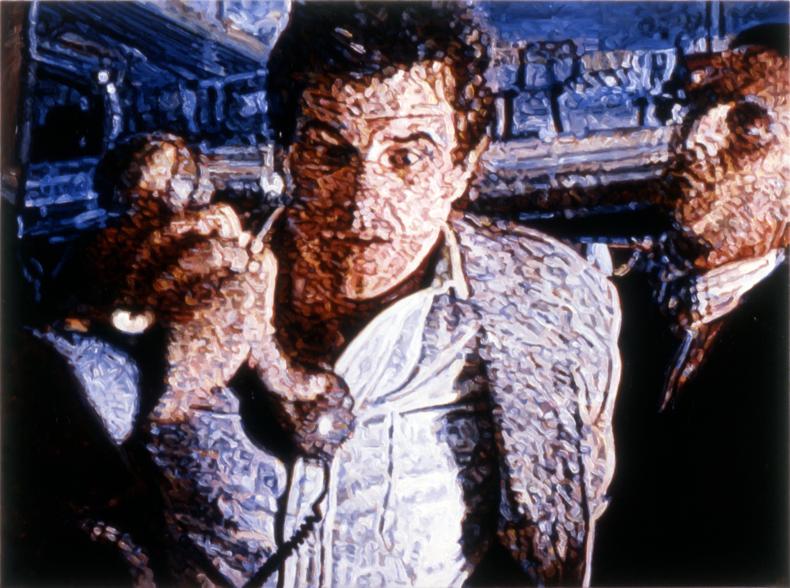 """Receiver,"" 1989; Acrylic on Canvas; 48""X64"""