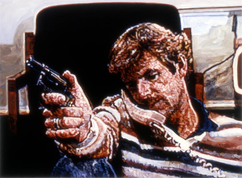 """""""Teleguns #1,"""" 1988; Acrylic on Canvas; 40""""X54"""""""