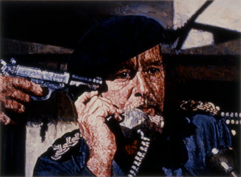 """""""Teleguns #2,"""" 1988; Acrylic on Canvas; 40""""X54"""""""