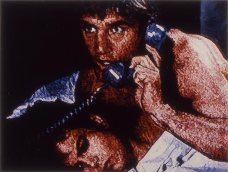 """""""Telesex #1,"""" 1988; Acrylic on Canvas; 44""""X58"""""""