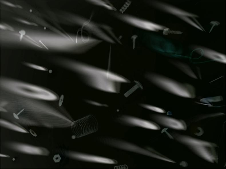"""Shrapnel #2,"" 1998; Digital Image; 10""X7.5"""