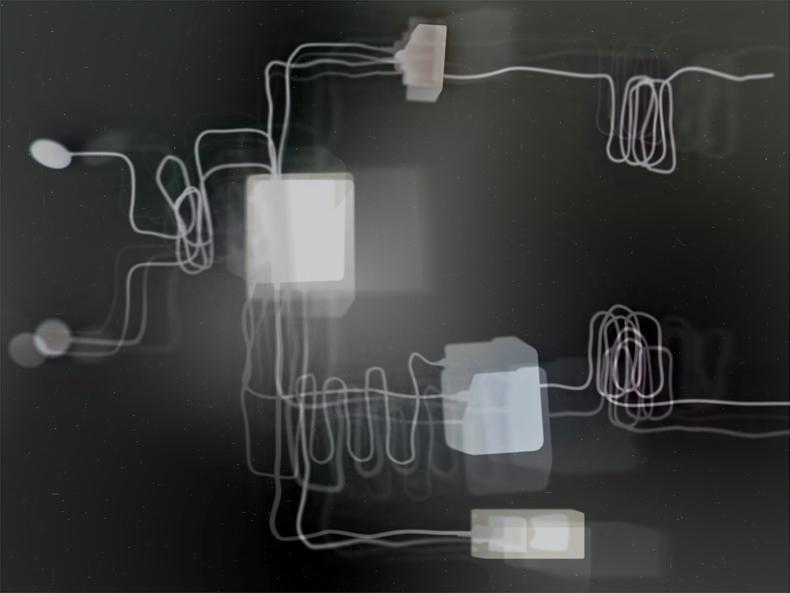"""Surveillance Radio,"" 1998; Digital Image; 10""X7.5"""
