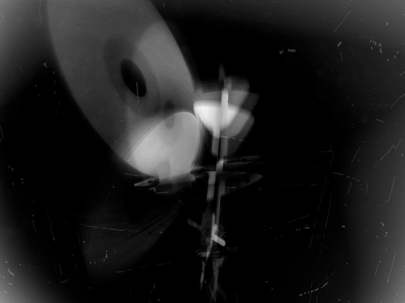 """CD and Dagger,"" 1999; Digital Image; 12""X9"""