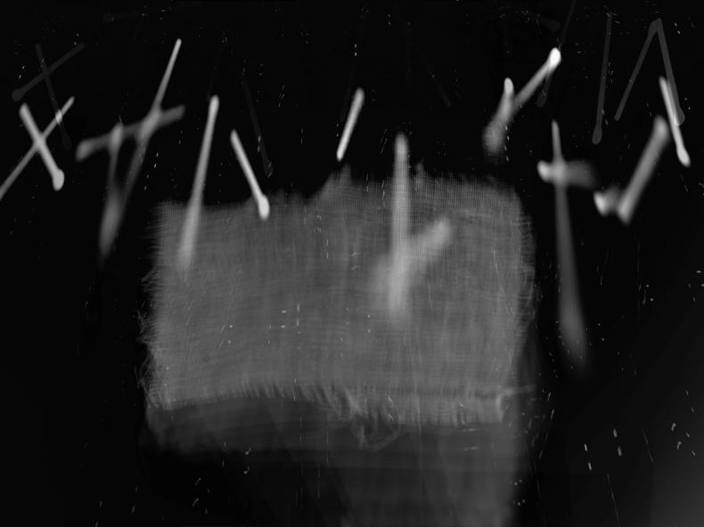 """""""Gauze,"""" 1999; Digital Image; 12""""X9"""""""